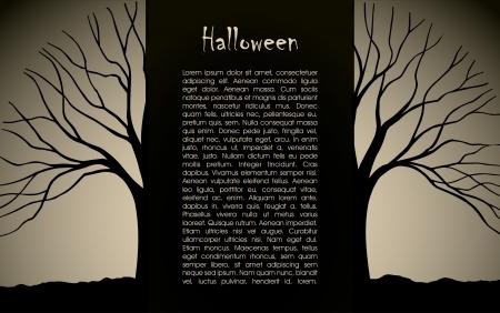 Halloween background design silhouette Stock Vector - 16103353