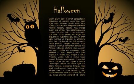 Halloween background  design silhouette Stock Vector - 16103348