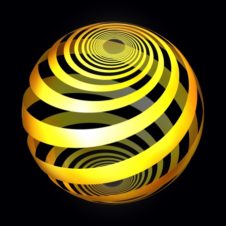 Yellow ribbon fractal abstract background for web and logo element Stock Photo - 16103344