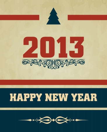 Happy New Year design card Stock Vector - 16549035
