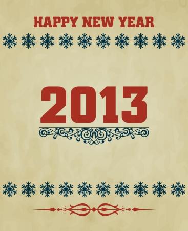 Happy New Year design card Stock Vector - 16549042