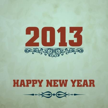 Happy New Year design card Stock Vector - 16549037