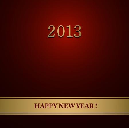 Happy New Year design card Stock Vector - 16548993