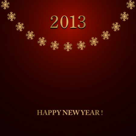 Happy New Year design card Stock Vector - 16549000