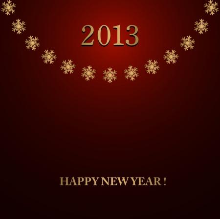 Happy New Year design card Stock Vector - 16549000