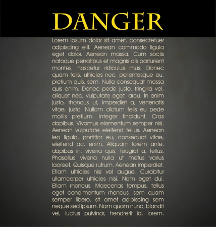 Danger prevention with sign and text  Stock Vector - 16549087