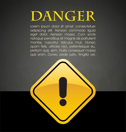 voltage danger icon: Danger prevention with sign and text