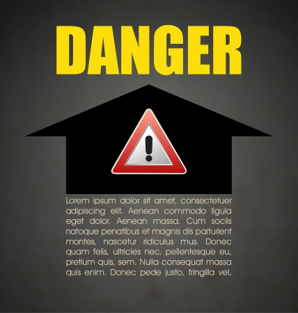 Danger prevention with sign and text Stock Vector - 16549080