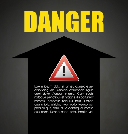 Danger prevention with sign and text Stock Vector - 16549079