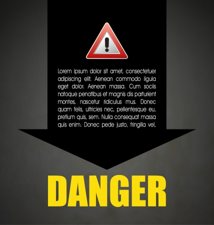 Danger prevention with sign and text Stock Vector - 16549081