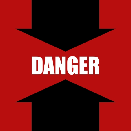 Danger prevention with sign and text Stock Vector - 16548989