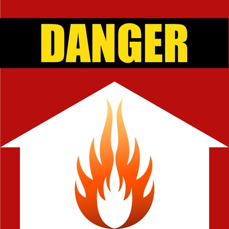 Danger prevention with sign and text Stock Vector - 16549005