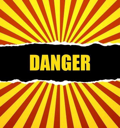 electricity danger of death: Danger prevention with sign and text