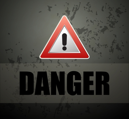 Danger prevention with sign and text  Stock Vector - 16549102