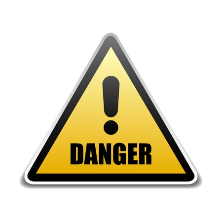 Danger sign Stock Vector - 16549077