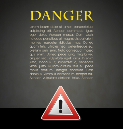 Danger prevention with sign and text Stock Vector - 16549083