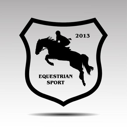 free riding: Superamento di ostacoli a cavallo, simbolo