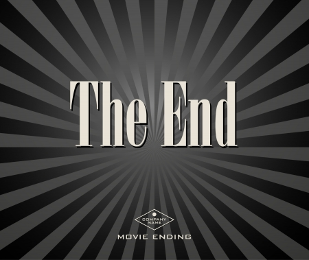 Movie ending screen Vector