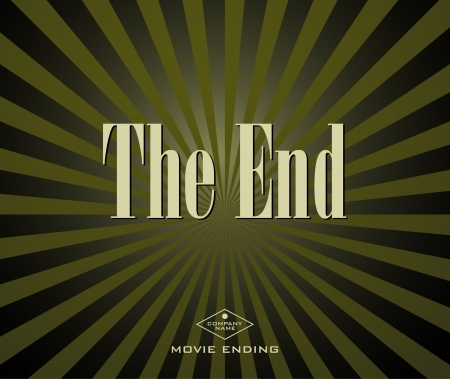 Movie ending screen Stock Vector - 16902015