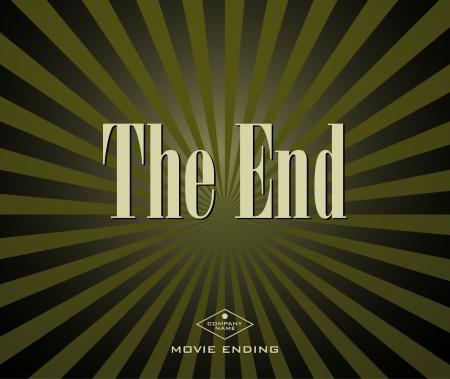 Movie ending screen Stock Vector - 16902015