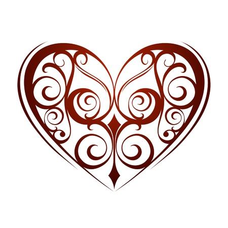 wedding backdrop: Valentines Day ornament heart background Illustration
