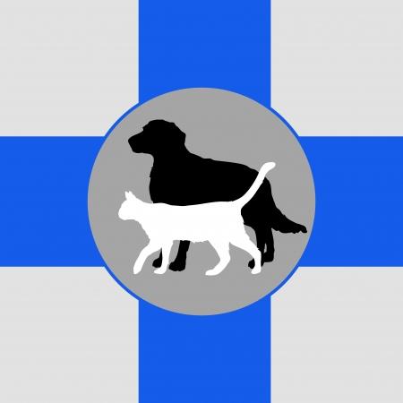 veterinarian symbol: simbolo illustrazione veterinario con cane e gatto