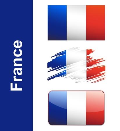 flag of france: Flag France isolated on white background