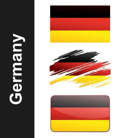 Flag Germany isolated on white background  Vector