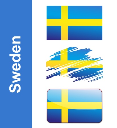 sweden flag: Flag Sweden isolated on white background