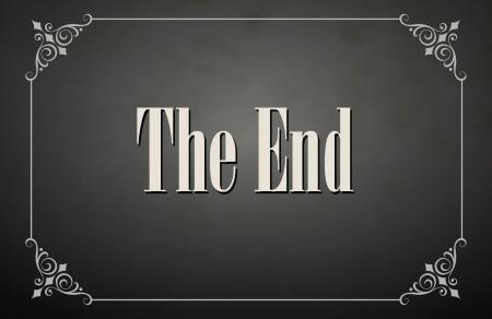 filmregisseur: Movie eindigend scherm