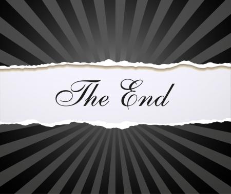 Movie ending  screen Stock Vector - 17329266