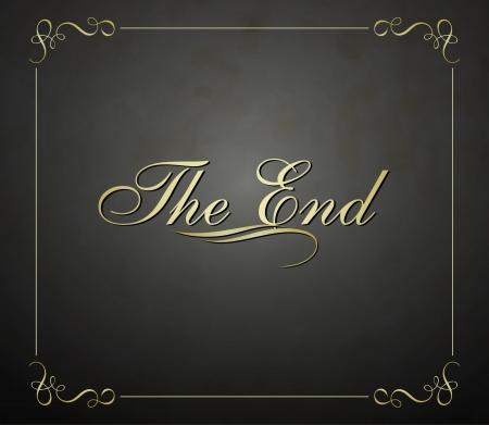 Film eindigt scherm
