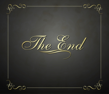 silent film: Movie ending  screen