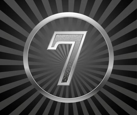 number seven: Decorative element with number Illustration