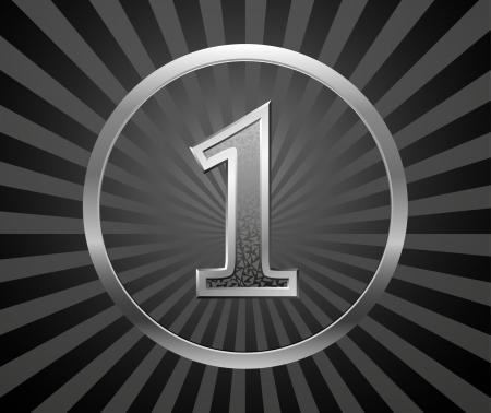0 6: Decorative element with number Illustration