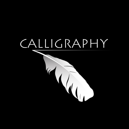 Feather calligraphic pen  background Stock Vector - 17329242