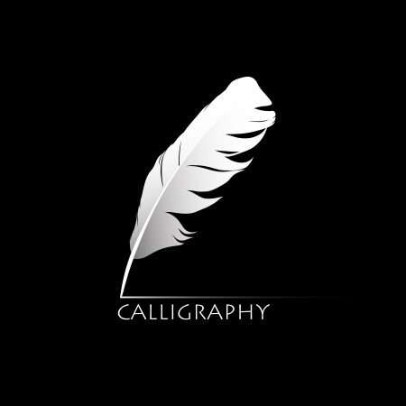 Feather calligraphic pen  background Stock Vector - 17329249