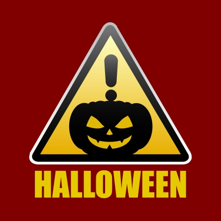 Halloween sign  design silhouette 31 oct Vector