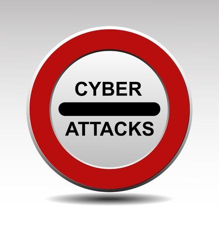 internet traffic: Cyber attacks vector sign