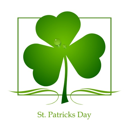 Clover leaf element background for happy St. Patricks Day Stock Vector - 17597300