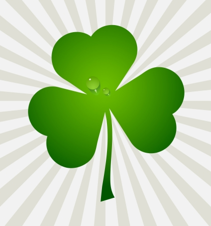Clover leaf element background for happy St. Patricks Day Stock Vector - 17597286
