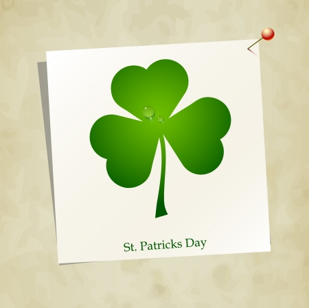 Clover leaf element background for happy St. Patricks Day Stock Vector - 17597303