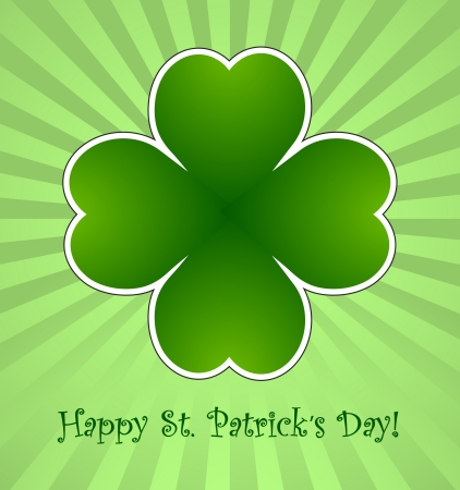 Clover leaf element background for happy St. Patricks Day Stock Vector - 17597289
