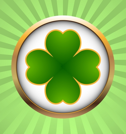 Clover leaf element background for happy St. Patricks Day Stock Vector - 17597295