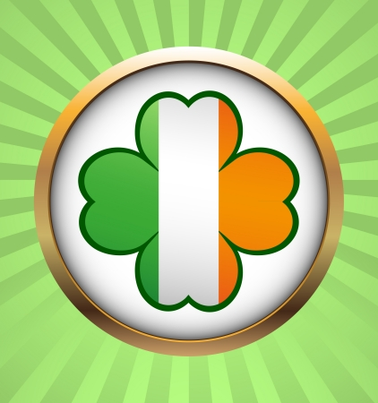 Clover leaf element background for happy St. Patricks Day Stock Vector - 17597294