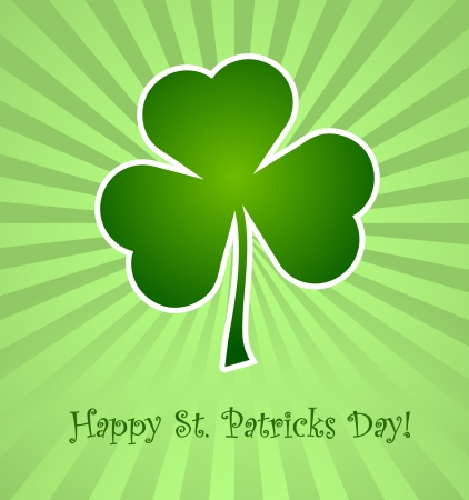 Clover leaf element background for happy St. Patricks Day Stock Vector - 17597288