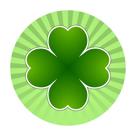 Clover leaf element background for happy St. Patricks Day Stock Vector - 17597306