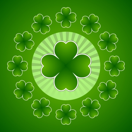 clover banners: Clover leaf element background for happy St. Patricks Day