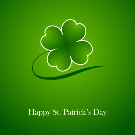 Clover leaf element background for happy St. Patricks Day Stock Vector - 17597299