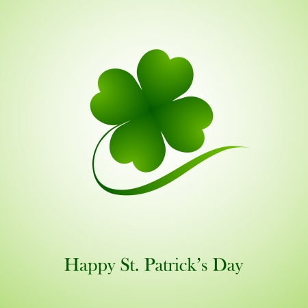 Clover leaf element background for happy St. Patricks Day Vector